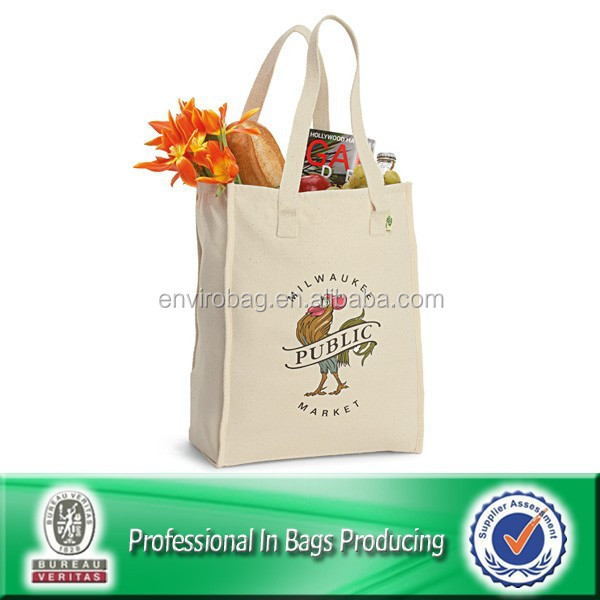 Large Organic reusable high quality canvas cotton tote bags