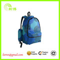 Useful cheap price blue polyester backpack