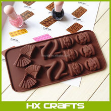 High-heeled shoe Bag Fan Soap Ice Cube Tray Chocolate Cake Silicone Molds DIY