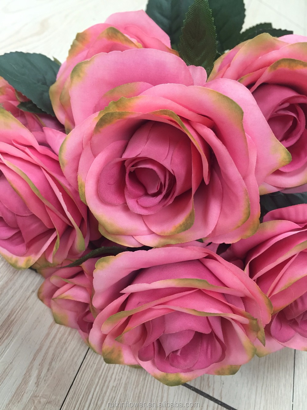 Rose bouquet Artificial Silk Flower For Weddings Decoration Natural Touch