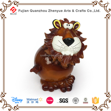 New polyresin lion novelty coin bank for kids