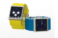 2014 new android 4.0 Dual core mtk6517 bluetooth gps 3g smart watch mobile phone
