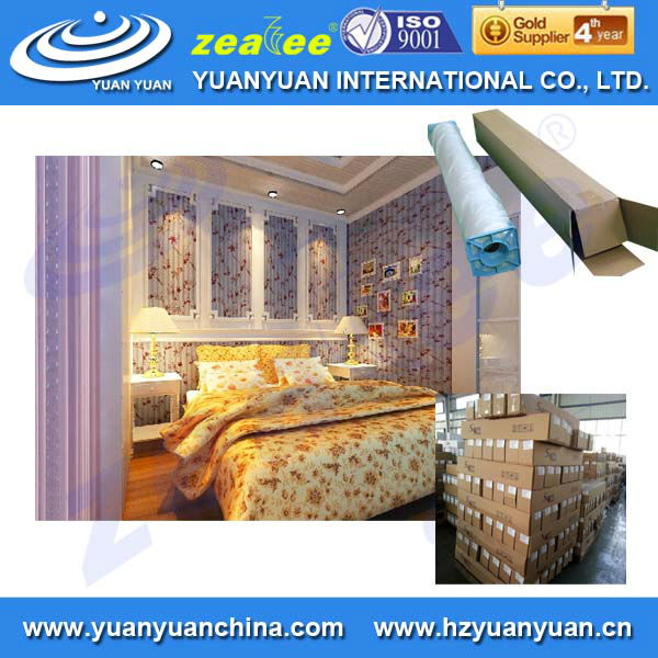 Stretched clear Eco solvent 3D wallpaper for interior decoration in roll