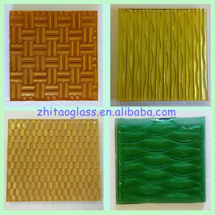 8mm customized corrugated casting glass panels