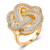 RI00181 Yiuw WT fashion jewelry 18k gold diamond-studded design luxury heart-shaped rings for women