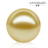 2016 latest 13-14mm loose pearl with south sea pearl and gold color