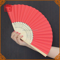 Folding hand fan factory direct bamboo custom church paper fan GYS914-5