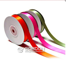 196 stock Colors and any DTM colors Single Face Satin Ribbon,100% polyester satin ribbon