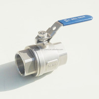 "Two-Piece Lever Handle 3/4"" Female Ball Valve"