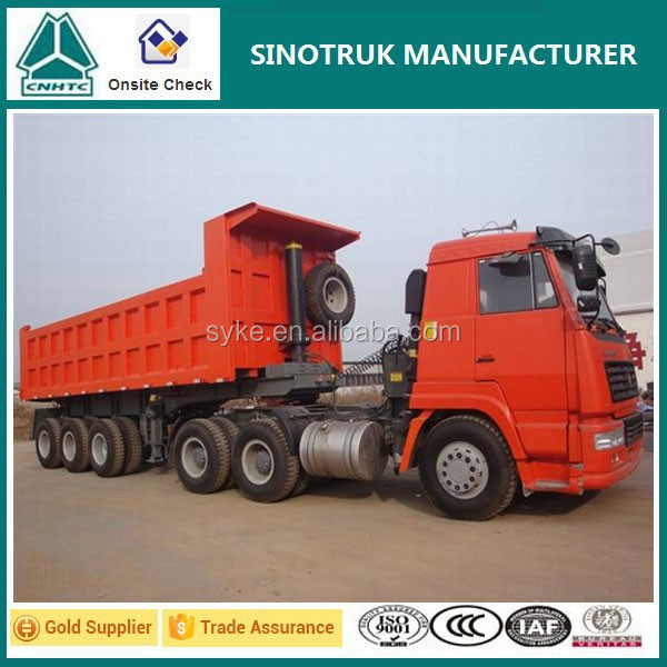 Hot Sale Tri-axle Sinotruk Heavy Loading Dump Semi Trailer