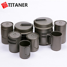 Hot Sale Outdoor Sports Titanium Camping Mugs Cooking Pots for Online Sale