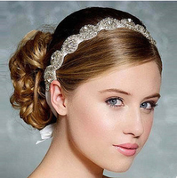 Ladies fashion bride hair accessories transparent diamond hair band