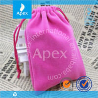 Portable Velvet Printed small drawstring pouches for sale