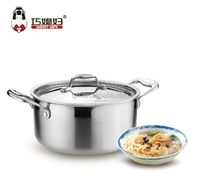 Food grade stainless steel sanding finished cooking pot