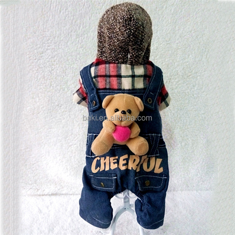 Wholesale Winter dog costume four legs pet bear clothes for dog jumpsuit