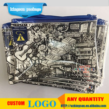 transparent clear PVC Slider zipper bag plastic bag with zipper