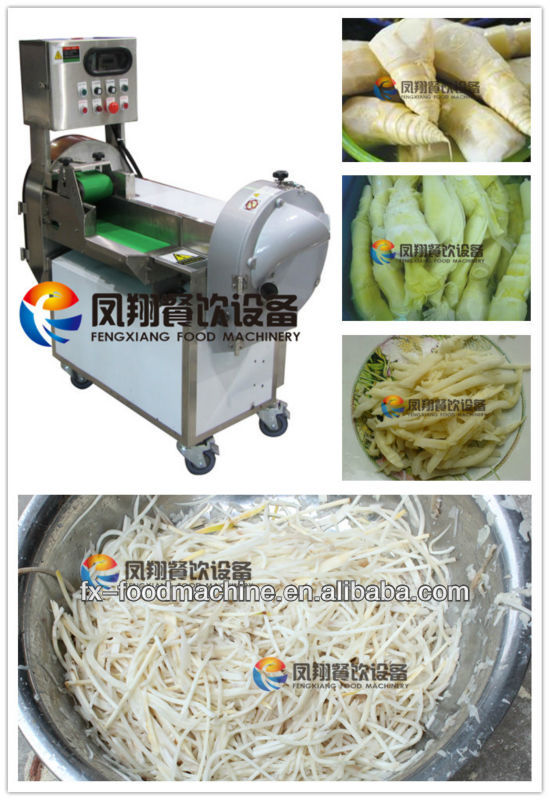 FC-301 MANUFACTURER of pickled bamboo shoot strips cutting machine price