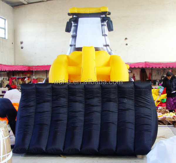 customized new design printed giant inflatable model of inflatable bulldozer