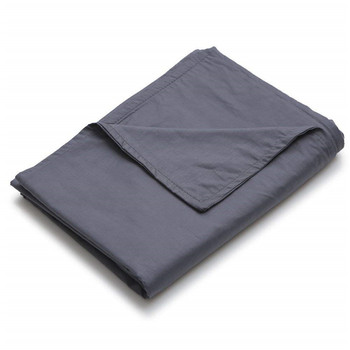 grey color custom size  cotton minky weighted blanket cover