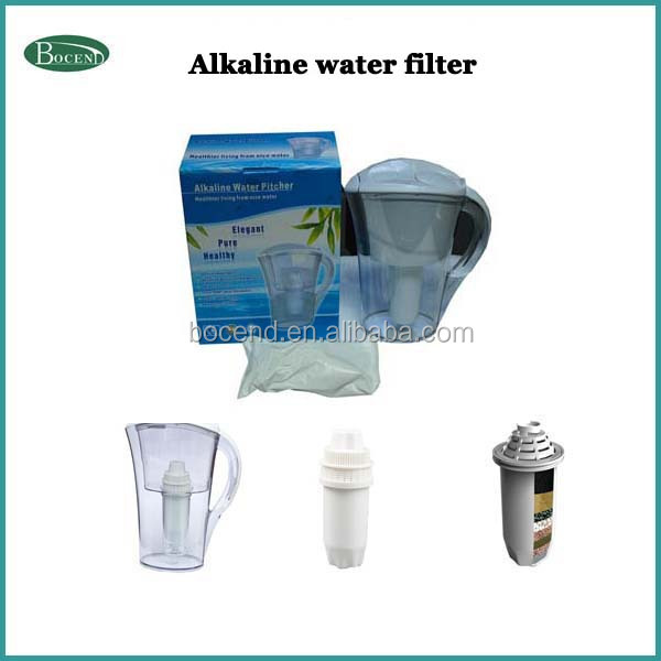 Alkaline water filter jug/alkaline water mineral jug/food grade single wall water bottle with filter