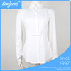 Long sleeve white slim fit ladies office wear