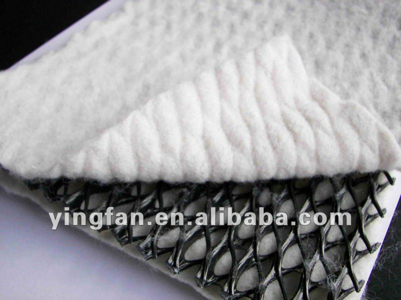 composite drainage board with geotextile