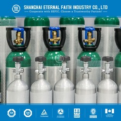 High Purity Aluminum Medical Oxygen Gas Cylinder With Gas