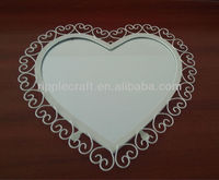 2014 New Arrival Heart Shape Metal Wall Mirror