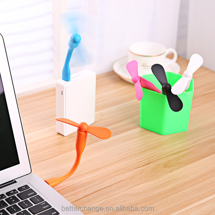 Multi function micro portable usb fan for power bank