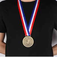 Custom Sports Tennis Medal With Ribbon