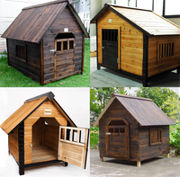comfortable high quality large outdoor wooden dog kennel wholesale
