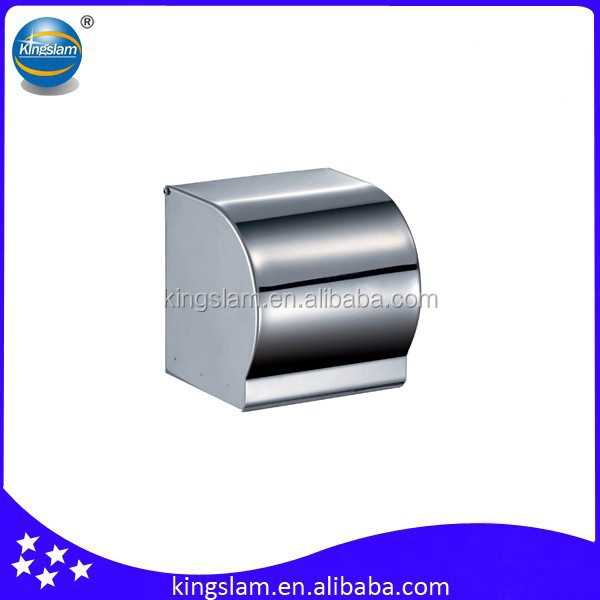 Modern chrome plated 304 stainless steel bathroom toilet tissue holder