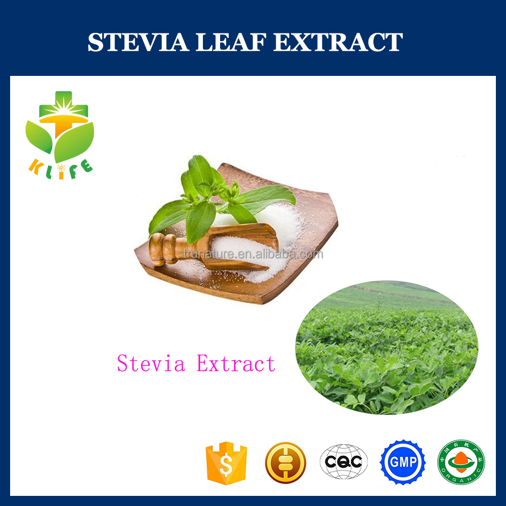 High quality sweetener stevia leaf extract powder added in drinking