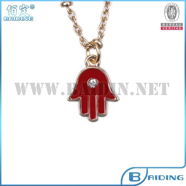18k gold chain red hand of fatima hamsa pendant gold necklace designs
