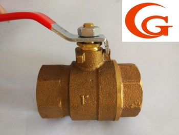 Handle operated thread bronze ball valve 1''