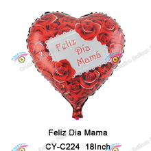 New Arrival Design Happy Mother's Day Foil Balloon Feliz Dia Mama Foil Balloon
