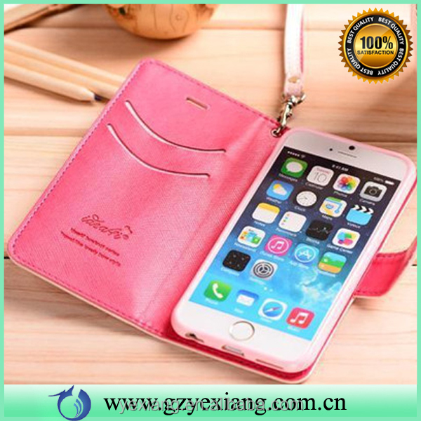 Hot sale butterfly knot pu leather phone case for Samsung note 2 flip coevr with card slot