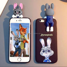 Full 3D embossed soft pvc/Silicone mobile phone cover, high quality rubber mobile phone protector for iPhone 7 and 7 plus
