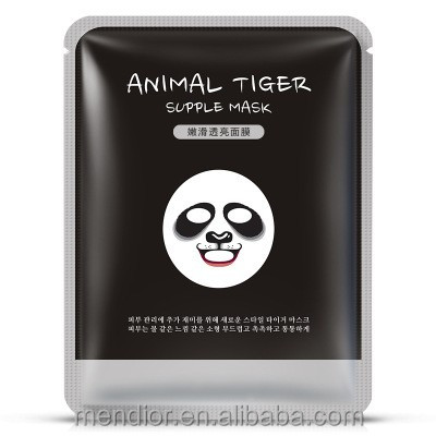 Mendior Animal Panda printing facial mask cotton hyaluronic acid moisturizing funny face mask OEM/ODM