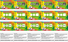 Paper Lottery scratch win ticket card