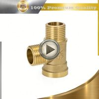 brass water flow meter connector