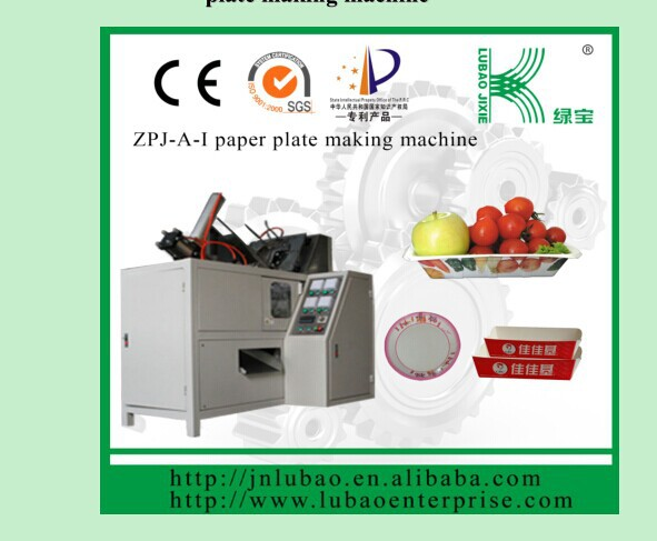 Fully automatic paper salad or snack tray or plate folding machine