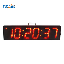 6 digit 6 inch large LED digital waterproof double sided station clock