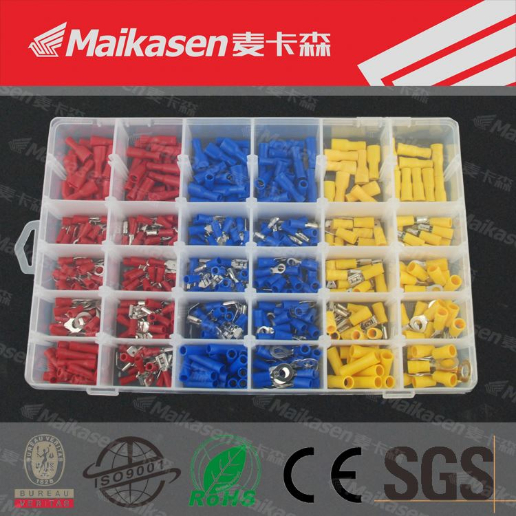 480 Pcs Assorted Insulated Electrical Wire Terminals, OEM Crimp Connector Kit<