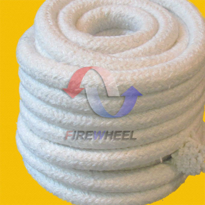 Ceramic fiber rope as high temperature furnace insulation material