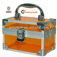 Orange Aluminum Carrying Makup Case MLD-AC825