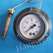 Capillary stove oven thermometer with front flange