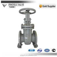 Gost standard rising stem flanged cast steel 3 way gate valve weight