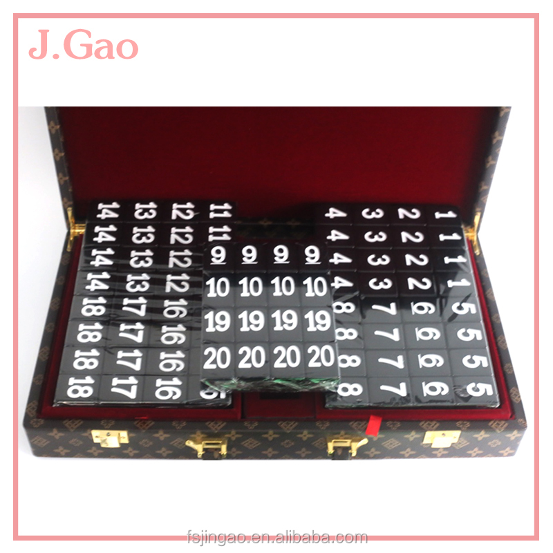 Hot Sale Black Number Domino Toy For Kids