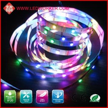 CE ROHS Approved WS2801 96LED/M Rgb Dream Color Led Strip With Connector DC12V 24W IP20 From Ledworker